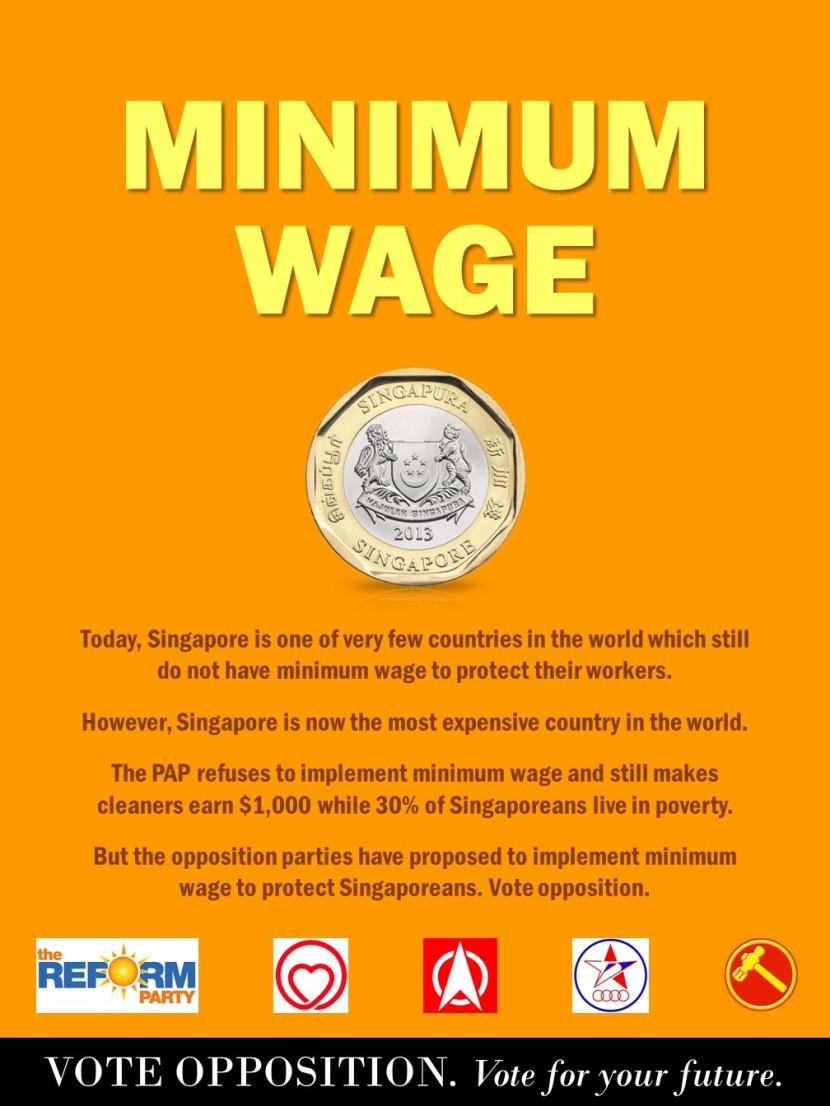 1 Vote Opposition @ Minimum Wage