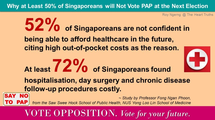 3 Why at Least 50 of Singaporeans will Not Vote PAP at the Next Election @ Healthcare @ VO