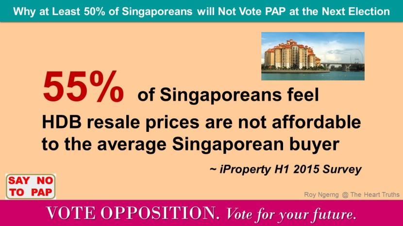 4 Why at Least 50 of Singaporeans will Not Vote PAP at the Next Election @ Housing @ VO