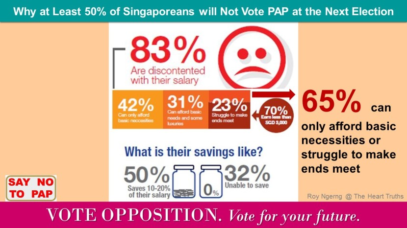 5 Why at Least 50 of Singaporeans will Not Vote PAP at the Next Election @ Salary @ VO
