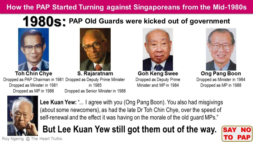 9 How the PAP Started Turning against Singaporeans from the Mid-1980s @ Old Guards @blog