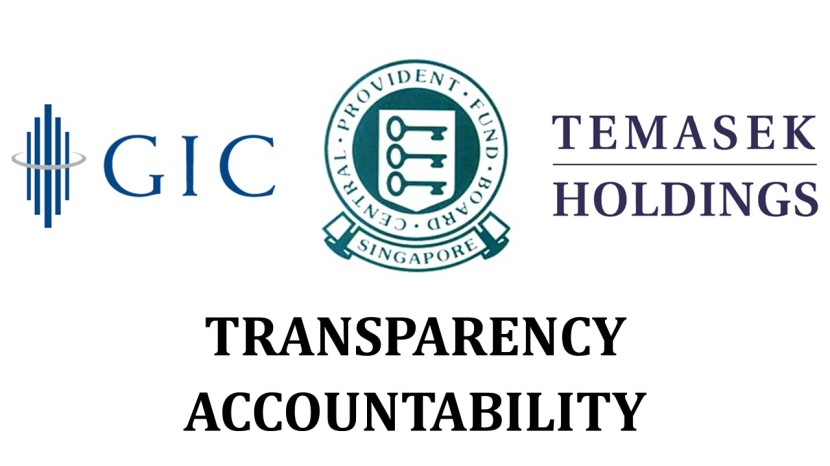CPF GIC Temasek Holdings Transparency and Accountability