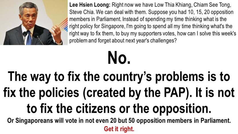 Lee Hsien Loong Fix Opposition