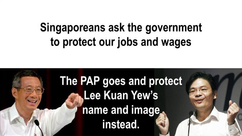 PAP Protect Lee Kuan Yew's Name and Image Instead