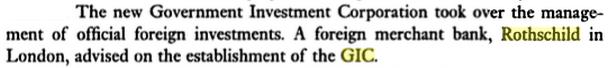 Rothschild advised GIC