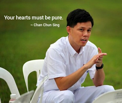 Chan Chun Sing Your hearts must be pure