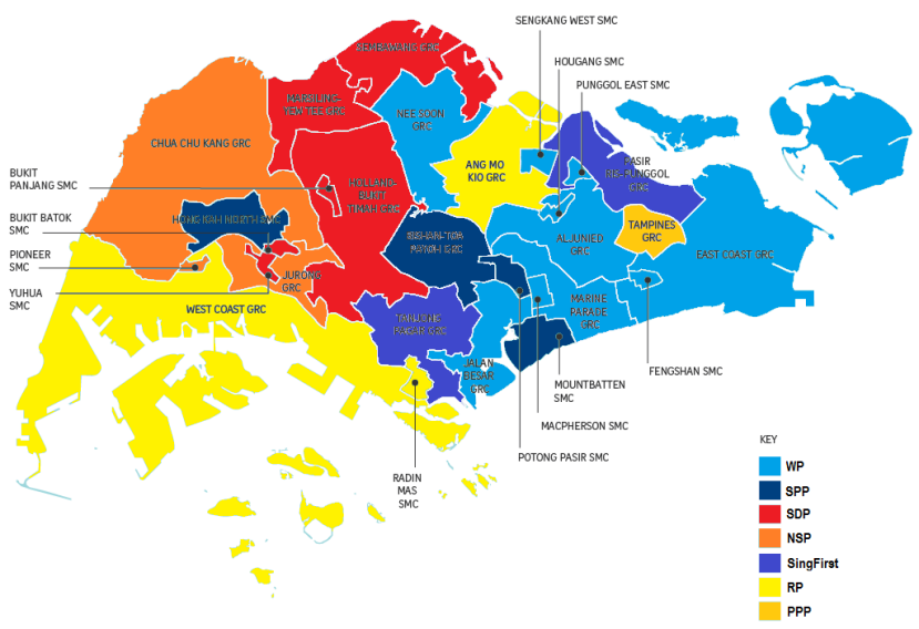 Singapore Electoral Boundaries 2015 @ Opposition Parties