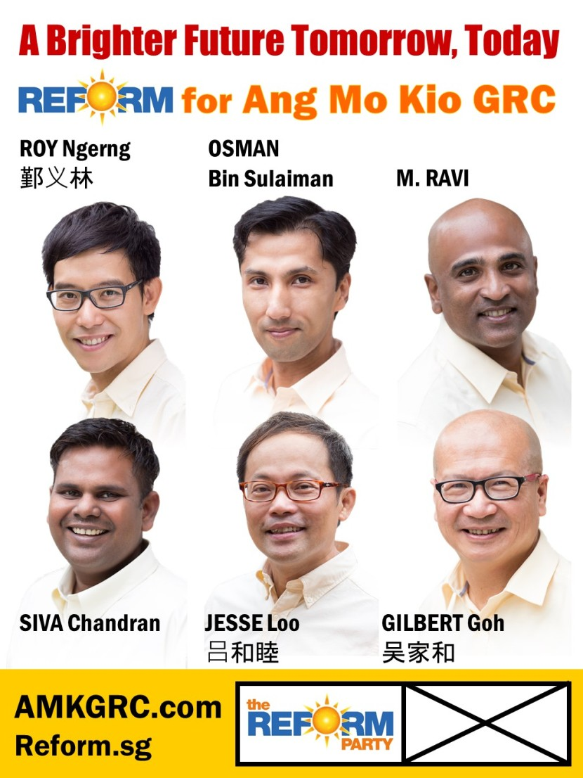 Reform Party Ang Mo Kio GRC Campaign Poster 3