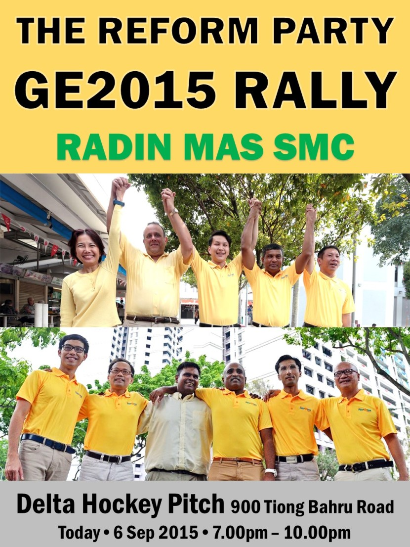 The Reform Party GE2015 Rally 6 September 2015