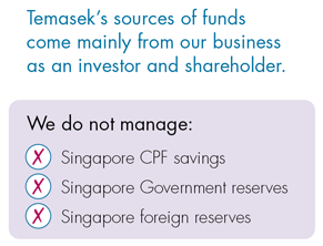 Ins and Outs at Temasek do not manage reserves