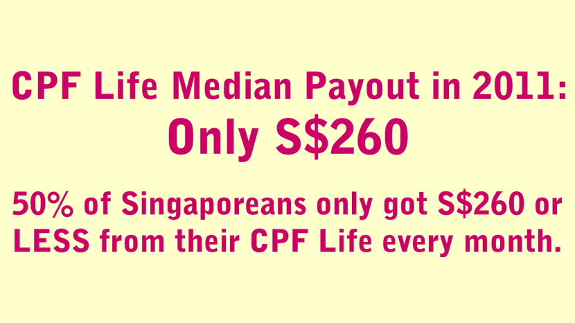 CPF Life Median Payout in 2011 Only $260.png
